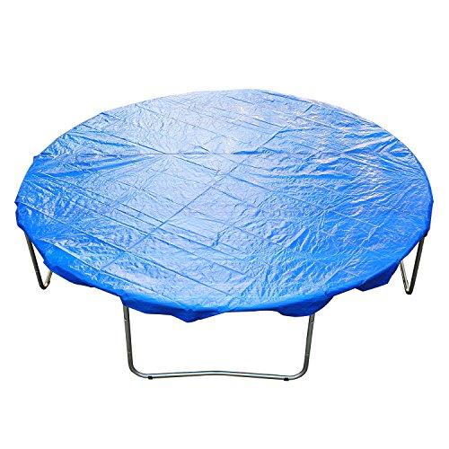 HOMCOM Funda Proteccion para Cama Elástica Trampolines Impermeable Redondo Durable y Resistente Ø 305cm PE Azul
