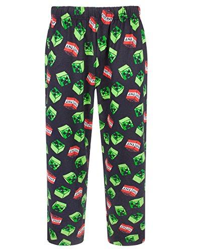 Minecraft Creeper Face TNT All Over Print Men's Black Lounge Pants Nightwear