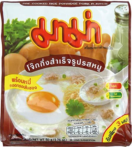 MAMA Instant Reisporridge mit Schweinefleischgeschmack – Aromatisches Reisgericht – Schnell & einfach zubereitet – 12 x 50 g