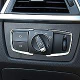 Molduras Interiores de Coche For accesorios del coche 3 4 Serie X5 3GT F15 F30 F31 F32 F33 F34 F36 2Pcs / Set de vagones Interruptor de faros Marco de moldura de ajuste Etiqueta engomada del círculo I