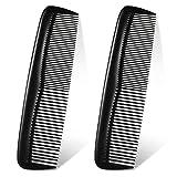 2 Peignes à Cheveux en Plastique de Poche Peignes à Cheveux Noirs Peigne de Coupe Cheveux à Dents Fines et Standard Peigne à Pansement Fin Peignes Coiffure pour Coiffure Salon de Coiffure