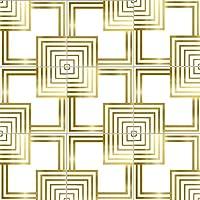 """ホワイトとゴールドステッカーピールスティック自己粘着タイルステッカーデカールキッチンキャビネットのカウンタートップフィルムPVC壁紙8"""" X 8"""" (20枚/セット),A"""
