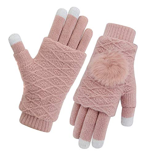 Vodabang Guantes de Pantalla Táctil Invierno Caliente Guantes Touchscreen Gloves Deporte Al Aire Libre