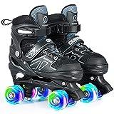 DIKASHI Toddler Roller Skates for Boys Age 3-9, 4 Sizes Adjustable Rollerskates for Little Kids Boy...