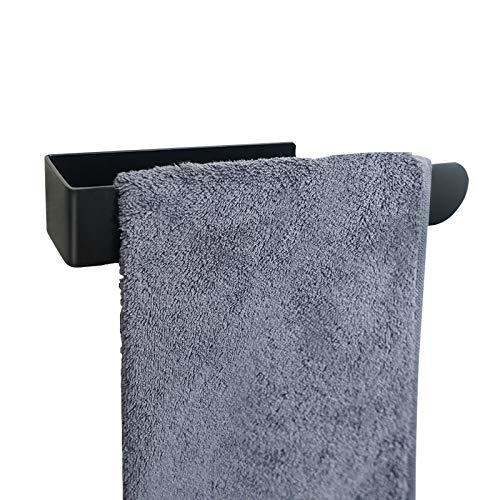 NearMoon - Toallero de mano con anilla de sujeción fuerte, autoadhesivo, toallero de baño de acero inoxidable grueso, percha de ropa adhesiva, estilo contemporáneo, sin taladrar...