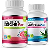 Raspberry Ketone and Inner Complex Duo - UK Made Premium Grade Ketone - Large Supply Easy to Follow Diet Course - Vegan Friendly - from A Trusted UK Brand