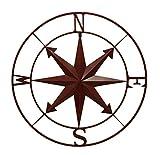 Zeckos Weathered Metal Indoor/Outdoor Compass Rose Wall Hanging 28 Inch