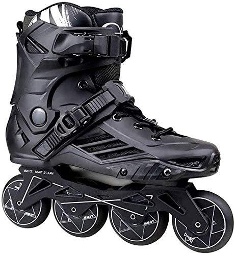 Patines en línea ajustables Tamaño ajustable profesional Zapatillas de patines en línea...