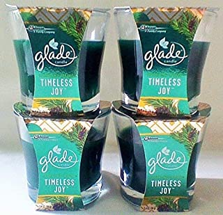 Glade 4 Timeless Joy Sparkling Spruce Scented Oil Candles 3.4 oz. Each Limited No Logo