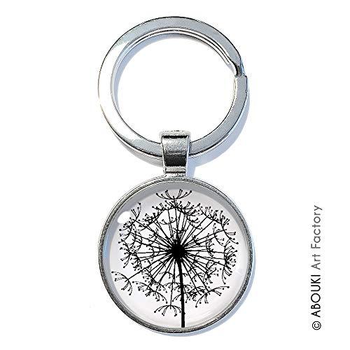 Pusteblume - ABOUKI   handgefertigter Glücksbringer Taschenanhänger Schlüsselanhänger