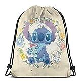 Etryrt Mochila de Cuerda Bolsas de Gimnasia Cute Stitch Gym Backpack Shoulder Bags Sport Storage Bag for Man Women