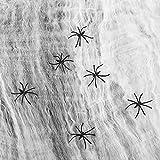 1000 sqft Stretchy Spider Web Halloween...