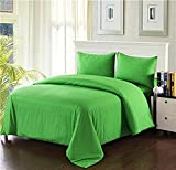 Tache Home Fashion 2-3PDUV-Green-F Duvet Cover Set, Full, Green