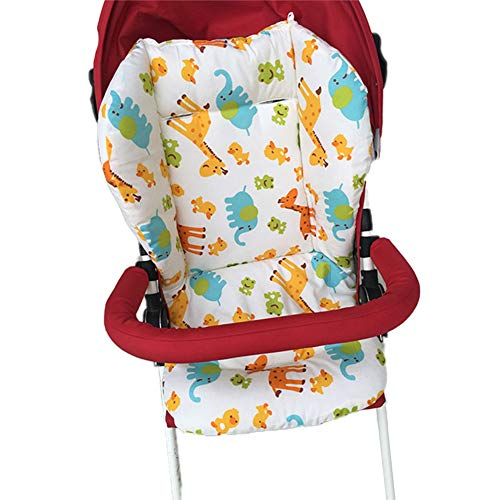 kakakooo 1PC Breathable Sportkinderwagen Sitzkissen Auto-Sitzauflage Hochstuhl Sitzkissen Liner Mat Cotton Sitzpolster-Abdeckungs-Schutz für Baby-Kind (Deer)