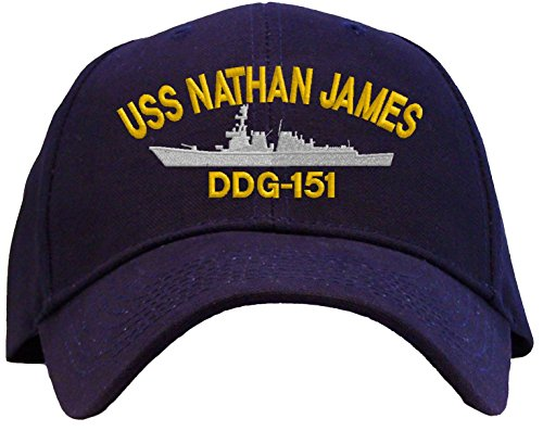 Spiffy Custom Gifts USS Nathan James DDG-151 Embroidered Baseball Cap Navy