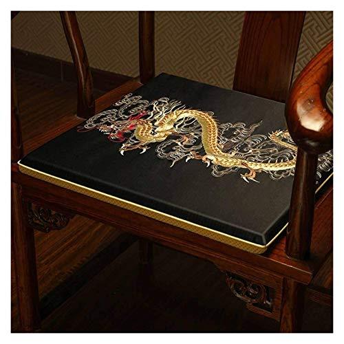 HLZY Cojines de exterior para sillas de patio Vintage Antideslizantes, Bordado cómodo estilo chino, Silla de té Cojín de asiento Cojín de asiento Cojín de cubierta