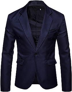 comprar comparacion YOUTHUP Blazer de Hombre Chaqueta de Traje Slim Fit Americana para Hombre Color Puro