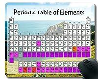 教室のマウスパッドの滑り止め、ステッチされた端が付いている海岸浜をテーマにしたマウスパッドのための元素の化学チャートの周期表