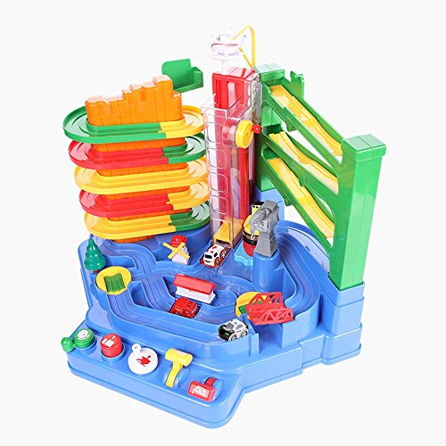 Lihgfw Autoeintritt Parkplatz Abenteuer Elektrische Zugschiene Auto Set Kinder Pädagogische Jungenspielzeug for Kinder geeignet for Geschenke for Kinder (Color : Multi-Colored)