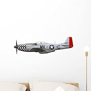 P-51d Mustang 78th Fighter Wall Decal by Wallmonkeys Peel and Stick Graphic (24 in W x 7 in H) WM75947