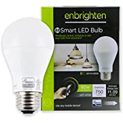 Enbrighten Z-Wave Plus Wireless Smart LED Light Bulb, Dimmable, 60-Watt Equivalent, 2700K Soft White, E26 Base, A19 Style Bulb, 750 Lumens, Hub Required, 35931, Works with Alexa