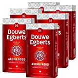 Douwe Egberts Aroma Rood (Course Grind) 17.6 Oz Each (6 Pack) - Imported From Holland