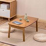 テーブルナチュラルバンブーフォールディングラップトップベッドソファ朝食ベッドルームオフィス(サイズ:70x42x31cm)