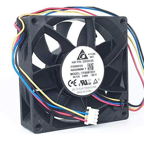 N / A Cooling Fan for Delta FFB0812EH 8CM 80MM 8025 80x80x25MM 12V 0.80A 4-Wire Built-in PWM Violent Cooling Fan