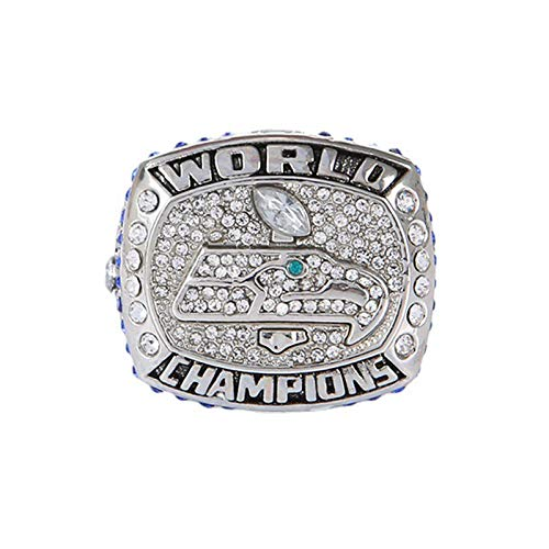Anillo NFL Rugby 2013 Seahawks Championship Ring para Memorial Collection, 11