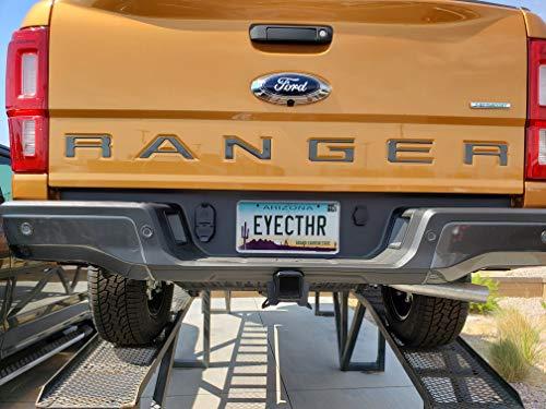 EyeCatcher Tailgate Insert Letters fits 2019-2021 Ford Ranger (Gloss Graphite)