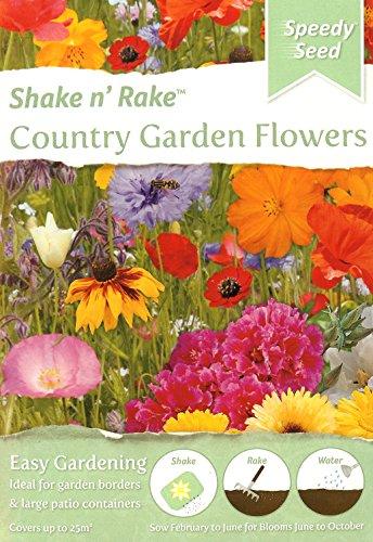 Mélange de graines de fleurs de jardin de campagne, agiter et râteau, couvre jusqu'à 25 m², pour bordures et contenants/pollen, papillons et abeilles Semer d'ici 12/2021