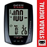 CATEYE - Strada Digital Double Wireless Speed and Cadence Bike Computer CC-RD410DW