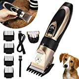 ieGeek Dog Grooming Clippers, Pet Hair Trimmer Kit Rechargeable with 4 Comb Guides