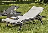 Sonnenliege Stapelliege Carlos mit Sitzauflage Farbe: Braun Relaxliege Gartenliege