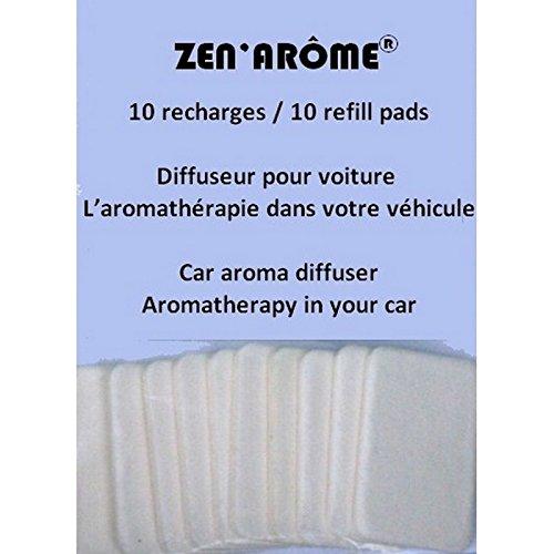 Zen Aroms - 10 Recharges papier buvards pour diffuseurs voitures et prises