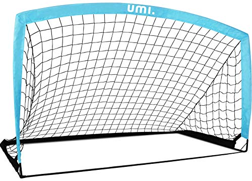 UMI. by Amazon Portería de fútbol Red de fútbol 6'6'x3'3' (Bebé Azul)