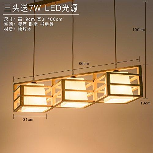 Moderna lampada pendente Giapponese di stile lampadario appeso in legno legno nordico creative living room restaurant è la luce della lampada in legno,86 * 16cm