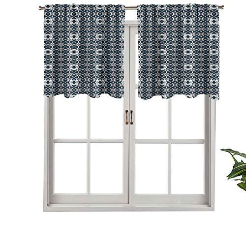 Hiiiman Sunshine Blockout cortina Azulejo mosaico Azulejo, juego de 1, 132 x 45 cm para interior salón comedor