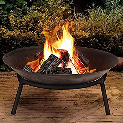 Rammento EXTRA LARGE Cast Iron Outdoor Fire Pit Bowl Round Patio Fire Large Outdoor Fire Pit 57cm from Rammento