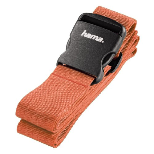 Hama Gepäckgurt (Band zum sicheren Verschließen der Koffers auf Reisen, 5x200 cm) orange