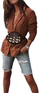 FSSE Women Corduroy Casual Business Autumn Business Work OL Blazer Jacket Coat