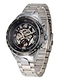 Jechin Men's Automatic Watches Skeleton Silver Dial Mechanical Wrist...