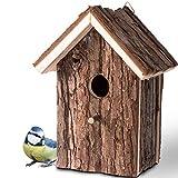 Gardigo - Nido para Pájaros; Casa de Madera para Pájaro; Casita Decoración de Jardín, Terraza o Balcón