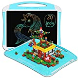 Jumbo Board LCD Writing Tablet Art Easel for Kids (20 inch) + Building Blocks Back Compatible with Lego | Kids Drawing Pad | Writing Board | Kids Drawing Tablet | Table Top Easel | Blocks Base Plate