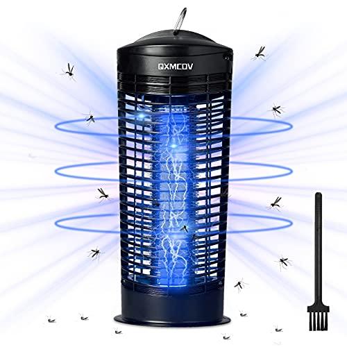 Qxmcov Elektrischer Insektenvernichter, 11W UV Insektenkiller Moskito Killer mit Reinigungsbürste, Insektenfalle Mückenlampe Wirksam zum Reduzieren Fliegender Insekten für Innen und Gärten