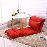 Sofa Klappbett Wohnzimmer Modern Lazy Couch Möbel Boden Gaming Stuhl Schlafsofa Bett (Farbe: Kaffeebraun)