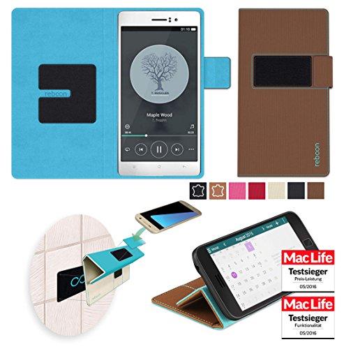 Hülle für Oppo R5 Tasche Cover Hülle Bumper | Braun | Testsieger