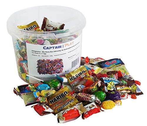 Süßigkeiten – Mix Party Box 228-teilig, für Kindergeburtstag mit 6 Kinder, 1er Pack (1 x 1 kg)