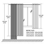 Topfinel Transparente Vorhänge mit Ösen Boot/Schiff Mustern Kurze Gardine für Kinderzimmer Fenster Wohnzimmer 2er Set 160x140cm (HxB) Baum - 8