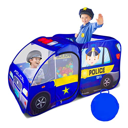Police Car Pop Up Play Tent for Kids